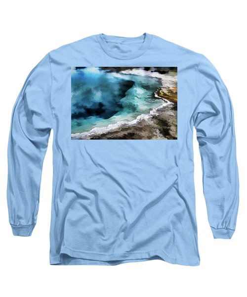 Silex Hot Springs   Impressionism Long Sleeve T-Shirt