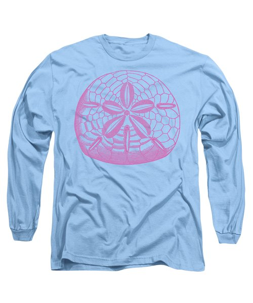 Long Sleeve T-Shirt featuring the digital art Silver Dollars Shell Tee by Edward Fielding
