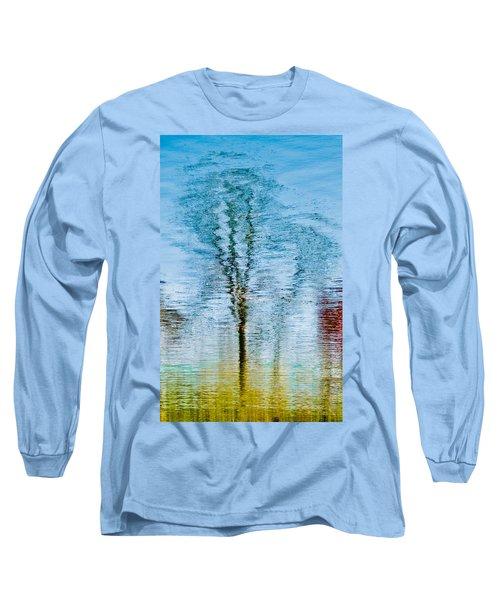 Silver Lake Tree Reflection Long Sleeve T-Shirt