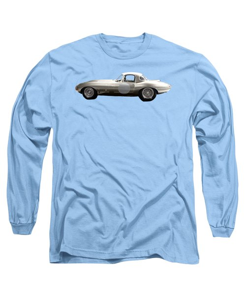 Silver Sports Car Art Long Sleeve T-Shirt