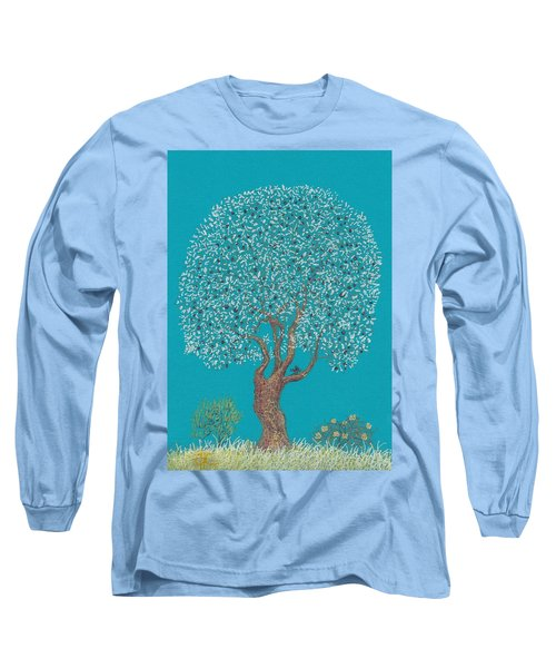 Silver Tree Long Sleeve T-Shirt