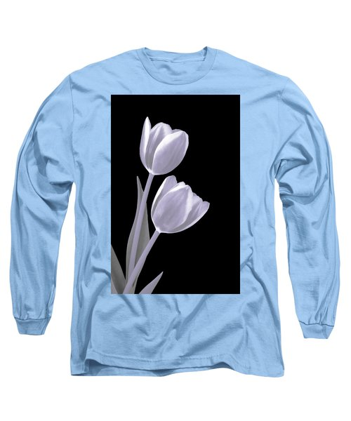 Silver Tulips Long Sleeve T-Shirt