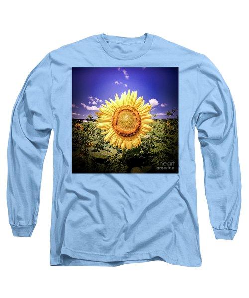 Single Sunflower Long Sleeve T-Shirt