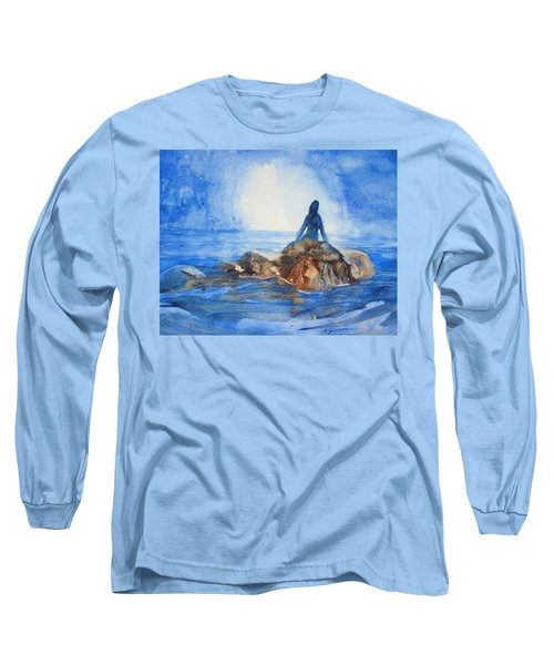 Long Sleeve T-Shirt featuring the painting Siren Song by Marilyn Jacobson