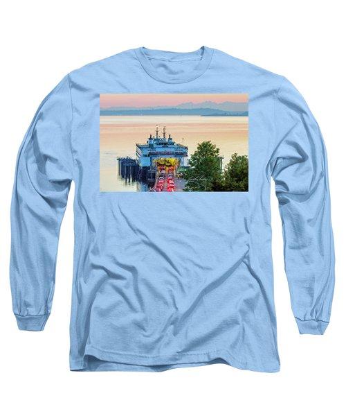 Six O'clock Ferry.2 Long Sleeve T-Shirt by E Faithe Lester