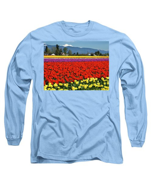 Skagit Valley Tulip Fields Long Sleeve T-Shirt