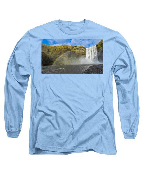 Skogafoss Rainbow Long Sleeve T-Shirt