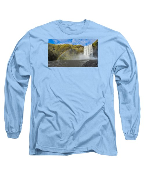Skogafoss Rainbow Long Sleeve T-Shirt