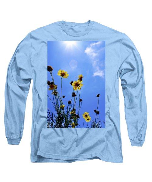Sky Flowers Long Sleeve T-Shirt