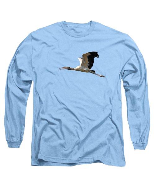 Sky Stork Digital Art .png Long Sleeve T-Shirt