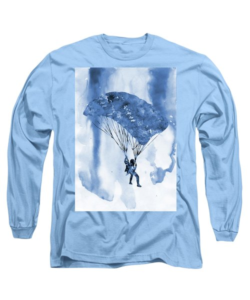 Skydiver-blue Long Sleeve T-Shirt
