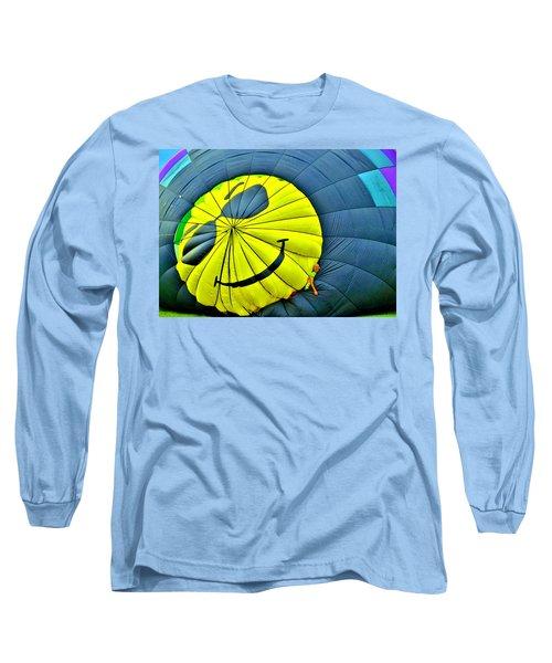 Smiley Face Balloon Long Sleeve T-Shirt