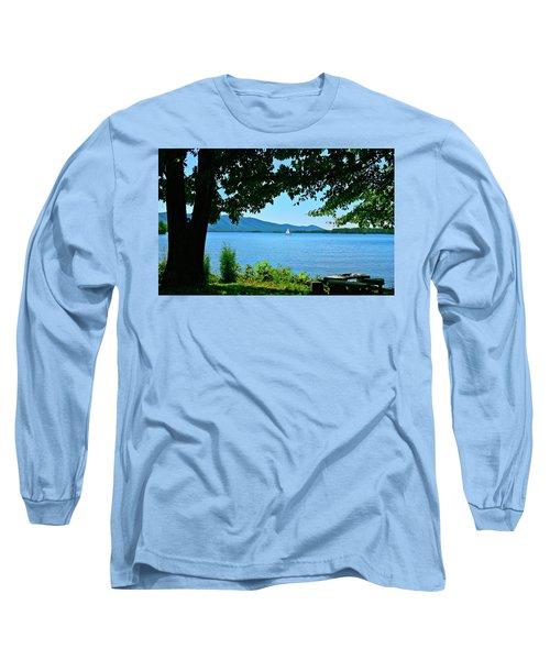 Smith Mountain Lake Sailor Long Sleeve T-Shirt by The American Shutterbug Society