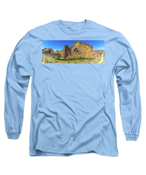 Long Sleeve T-Shirt featuring the photograph Smith Rock by Jonny D