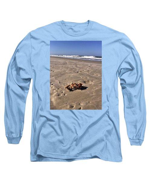 Smoking Kills Crab Long Sleeve T-Shirt by Lisa Piper