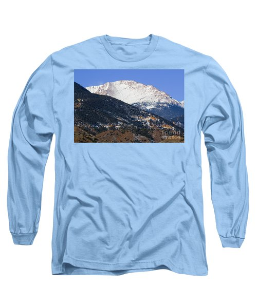 Snow Capped Pikes Peak In Winter Long Sleeve T-Shirt