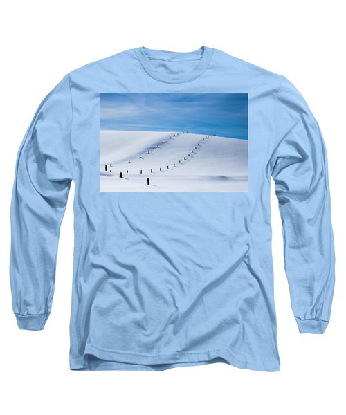 Snow Covered Pasture Long Sleeve T-Shirt by Sean Allen