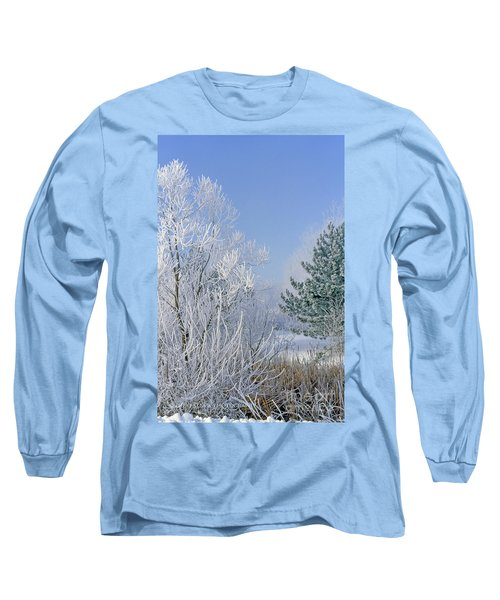 2a357 Snow Covered Trees At Alum Creek State Park Long Sleeve T-Shirt