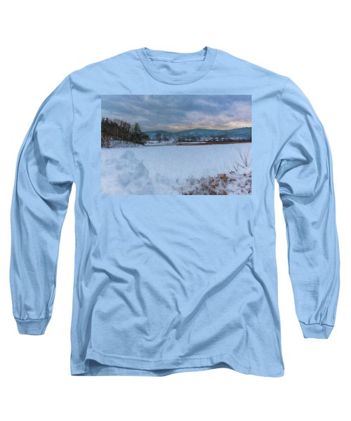 Snow On The West River Long Sleeve T-Shirt