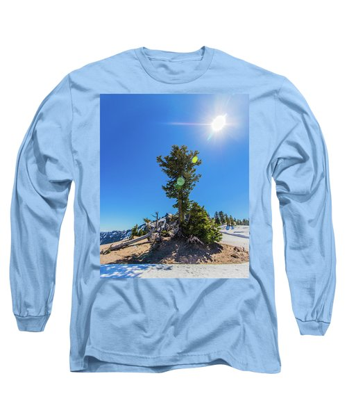 Long Sleeve T-Shirt featuring the photograph Snow Tree by Jonny D