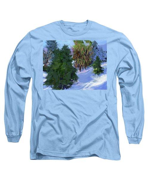 Snow Trees Long Sleeve T-Shirt