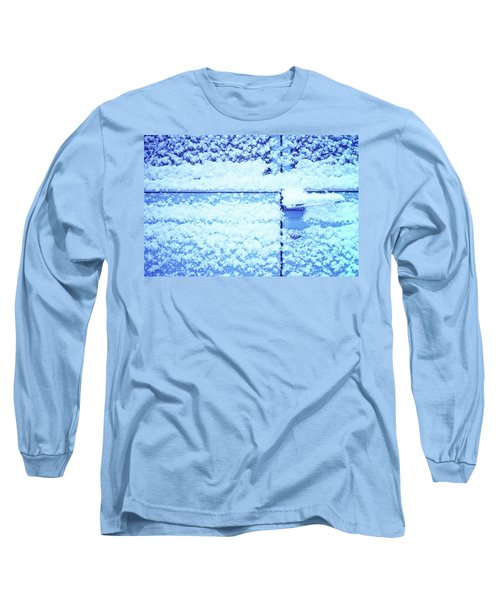 Long Sleeve T-Shirt featuring the photograph Snow Van 51 Chevy Panel by Laurie Stewart