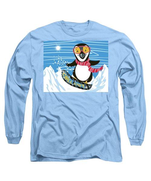 Snowboarding Penguin Long Sleeve T-Shirt