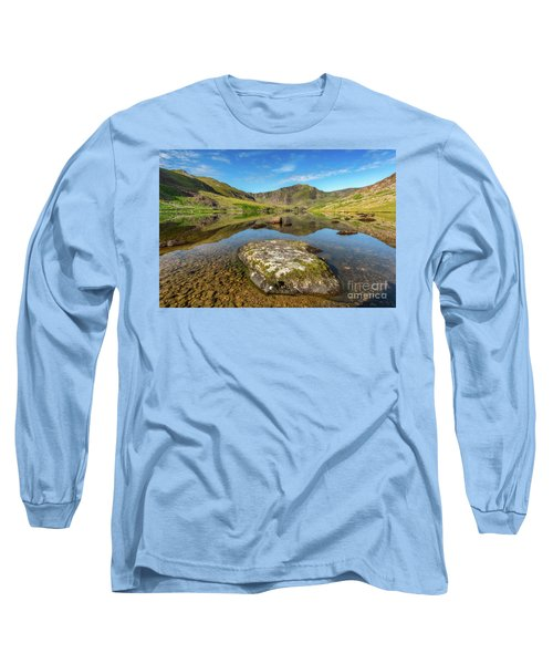 Long Sleeve T-Shirt featuring the photograph Snowdonia Mountain Reflections by Adrian Evans