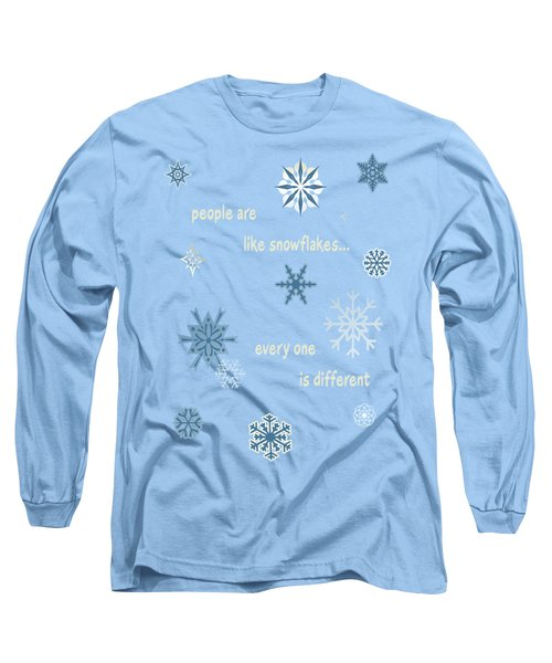 Snowflakes 5 Long Sleeve T-Shirt by Methune Hively