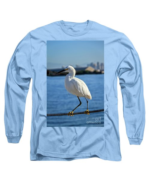 Long Sleeve T-Shirt featuring the photograph Snowy Egret Portrait by Robert Bales