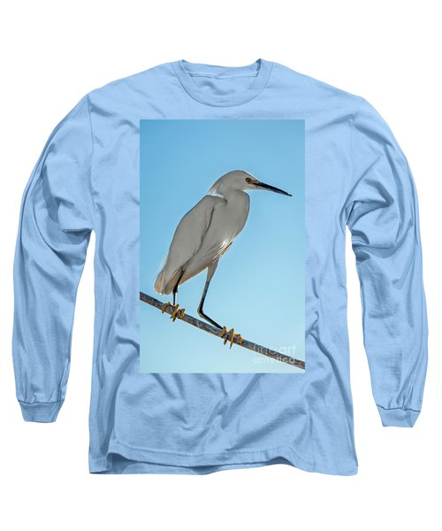 Long Sleeve T-Shirt featuring the photograph Snowy Egret by Robert Bales
