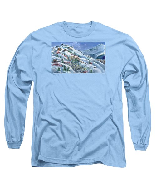 Snowy Mountain Road Long Sleeve T-Shirt by Dawn Senior-Trask