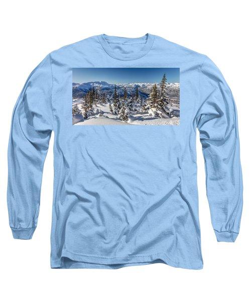 Snowy Whistler Mountain  Long Sleeve T-Shirt