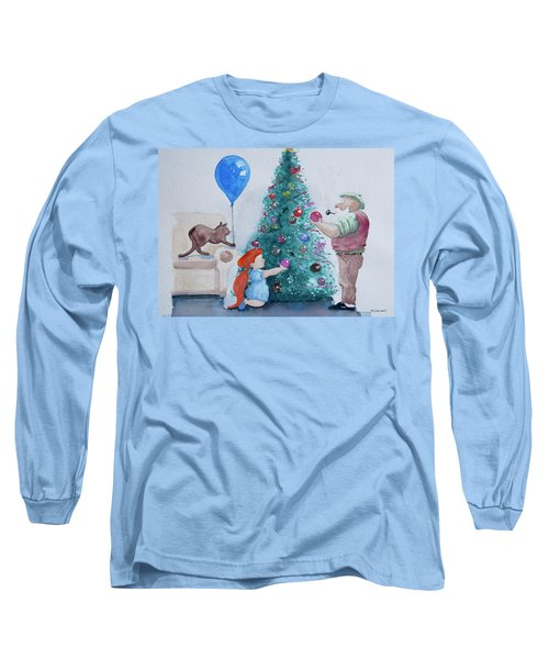 Long Sleeve T-Shirt featuring the painting So Pretty Grandpa by Geni Gorani