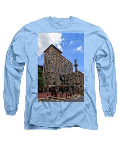 Soldiers Monument In Penn Square In Lancaster Long Sleeve T-Shirt