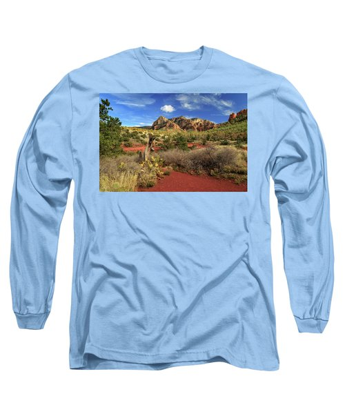 Some Cactus In Sedona Long Sleeve T-Shirt by James Eddy