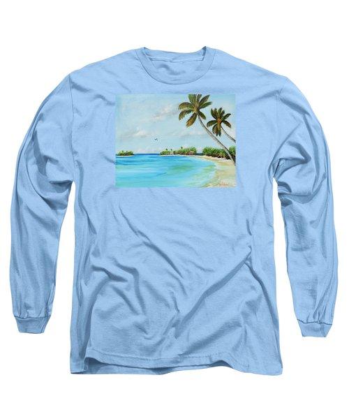 Somewhere In Paradise Long Sleeve T-Shirt by Lloyd Dobson