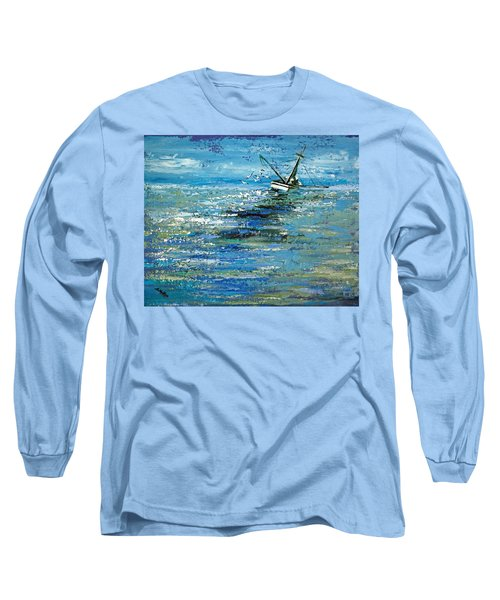 Long Sleeve T-Shirt featuring the painting Soups On by Suzanne McKee