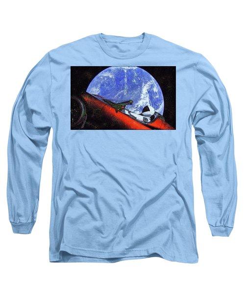 Space Meeting At Tesla Long Sleeve T-Shirt