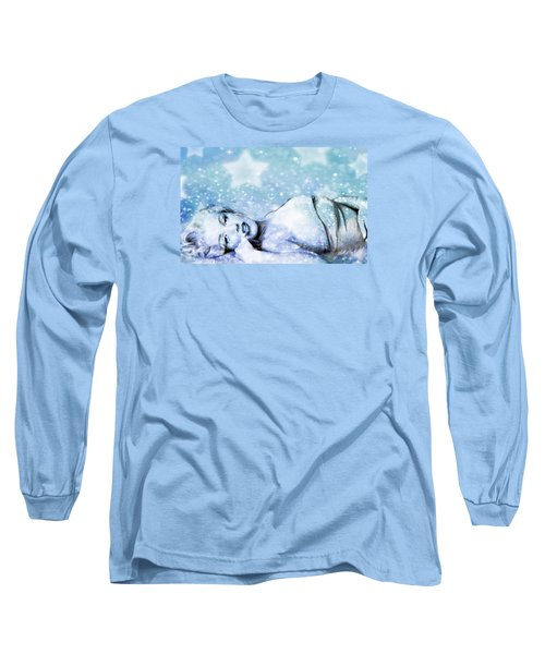 Long Sleeve T-Shirt featuring the digital art Sparkle Queen by Greg Sharpe