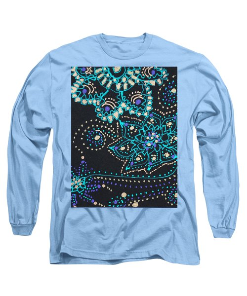 Midnite Sparkle Long Sleeve T-Shirt by Carole Brecht