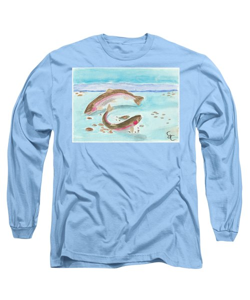 Spawning Rainbows Long Sleeve T-Shirt by Gareth Coombs