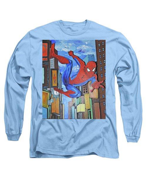 Spiderman Swings Long Sleeve T-Shirt