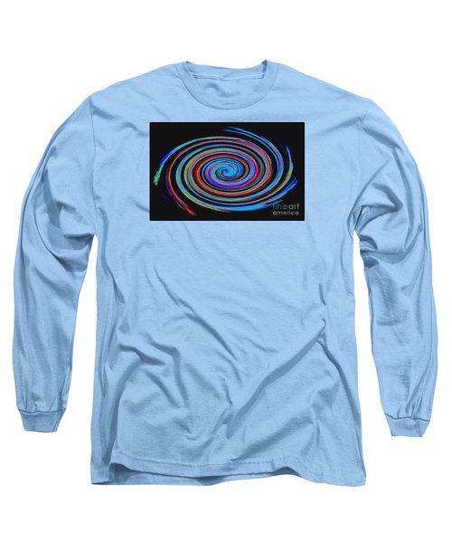 Long Sleeve T-Shirt featuring the photograph Spiral Spectrum No. 1 - Modern Art by Merton Allen