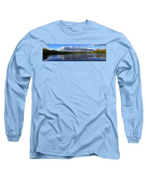 Splendid Autumn View Panoramic Long Sleeve T-Shirt by Brook Burling