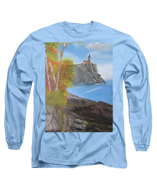 Split Rock Lighthouse Minnesota Long Sleeve T-Shirt by Thomas Janos