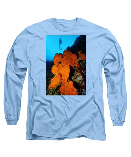 Sponge Diver Long Sleeve T-Shirt by Aaron Whittemore
