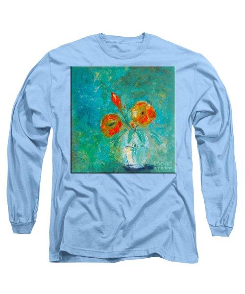 Palette Knife Floral Long Sleeve T-Shirt by Lisa Kaiser