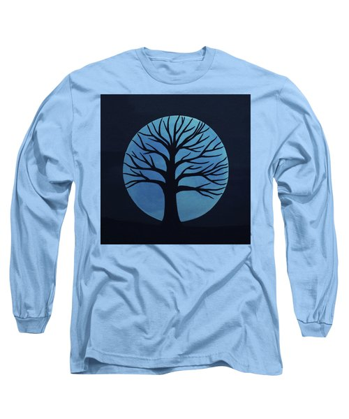 Spooky Tree Blue Long Sleeve T-Shirt