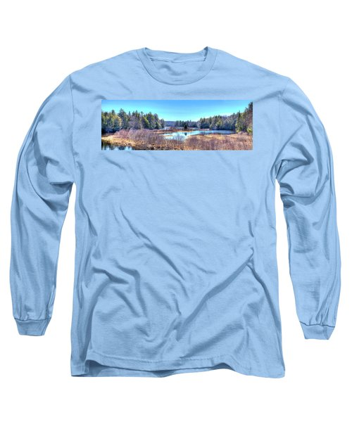 Long Sleeve T-Shirt featuring the photograph Spring Scene At The Tobie Trail Bridge by David Patterson